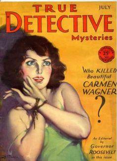 True Detective Magazine Bondage Cover Art
