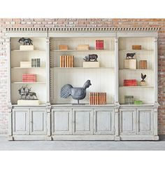 Shop Artesanos for your bookcase and shelving needs. Save on library bookcases, modern shelving and other office or home study storage furniture. Furniture Styles, Furniture Design, Painted Furniture, Grey Shelves, Modern Shelving, Aleta, Fashion Room, Best Interior, Elle Decor