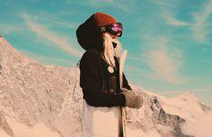 Snowboarding in Saas-Fee