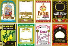Russian vodka labels