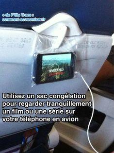 L'Astuce Pour Regarder Tranquillement un Film sur son Smartphone en Avion.