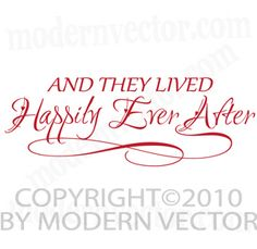 Lived Happily Ever After Home Vinyl Wall Quote Decal | eBay