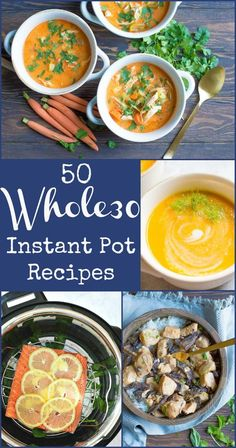 Delicious and super easy 50 Whole30 recipes that can be made in the Instant Pot! Make this round super easy and delicious. #whole30 #instantpot #paleo