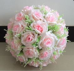 wholesale 20cm Silk Rose Pomander Flower Ball Bridal Wedding Decor Favor Party Kissing Balls Wedding bouquet Free Shipping-in Decorative Flowers & Wreaths from Home & Garden on Aliexpress.com   Alibaba Group