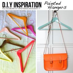 Inspiration: painted hangers