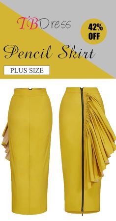The Bodycon Zipper Pleated Patchwork Women's Skirt will style your summer. Plus size available. Saving More with APP Skirt Outfits, Chic Outfits, Fashion Outfits, African Fashion Dresses, African Attire, African Print Skirt, Ankara Skirt, Cheap Skirts, Bodycon