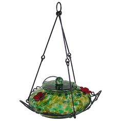 Natures Way Bird Products Ghf2 Hummingbird Feeder Green Speckled Glass