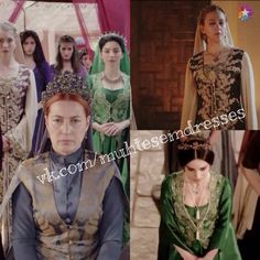 Maginificent Heritage - Two costumes traditionally associated with Mahidevran and Hürrem were symbolically inherited by Defne and Nurbanu.