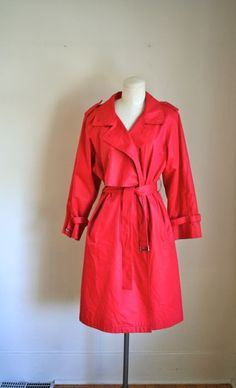 vintage trench coat  LONDON FOG red trench all weather by MsTips, $38.00