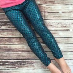 Mermaid Leggings Ariel Leggings Glitter by TuttiFruttiClothing1