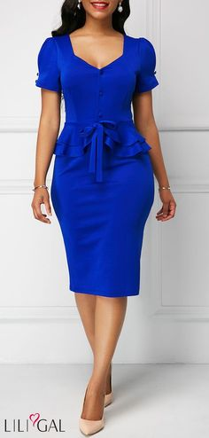 Sexy Dresses, Club & Party Dress Sale Online Page 6 Cheap Blue Dresses, Royal Blue Dresses, Elegant Dresses, Sexy Dresses, Cute Dresses, Casual Dresses, Dresses For Work, Dress Outfits, Fitted Dresses