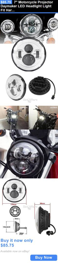 motorcycle parts: 7 Motorcycle Projector Daymaker Led Headlight Light Fit Harley Davidson Touring BUY IT NOW ONLY: $85.75
