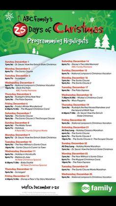 ABC Family Dec 2013 schedule