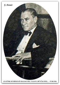 Atatürk Yalova'da. 07.08.1930.