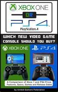 Xbox One or PS4 [PlayStation 4]: Which New Video Game Console Should You Buy? A Comparison of Xbox 1 and PS4 Price Features Specs Games and Release Dates