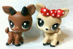 Rudolph and Clarice * OOAK Custom Littlest Pet Shop Christmas
