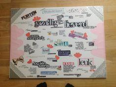 Een creatief cadeau-Tijdschriften collage noem ik het maar :)