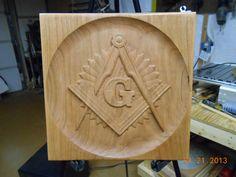 Masonic Emblem Wood Carving. $45.00, via Etsy.