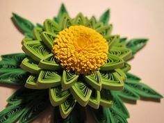 Quilled green flower