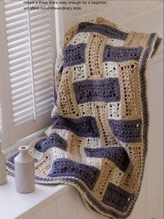 Great Afghans andThrows ; includes 11 crochet & knit patterns for all skill levels :1. Super Granny. 2. Floral Squares. 3. Updated Ripple . 4. Rose in Bloom. 5. Park Avenue . 6. Truly Tranquil. 7. Reversible Shells . 8. Starbright . 9. Bobbled Stripes. 10. Cables 'n' Bobbles. 11. Woven Lacy Ribbons. Download all