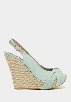 I Love a great wedge for Spring!  Sage Glory Slingback Wedge