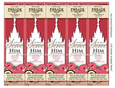 "PRINTABLES Bookmarks LDS YW Young Women 2015 Theme ""Embark in the Service of God"" Five Large 2""x8"" Bookmarks per page. Matching Binder Covers, invites, handouts, calendars, etc.. Temple Art Design etsy.com/shop/TempleSquares"