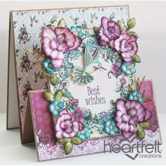 Heartfelt Creations - Orchids Accordion Fold Card Project