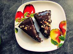 Schokogasm - Haselnuss Brownie Tarte mit Nutella Ganache