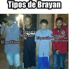 Tipos de Brayan :v
