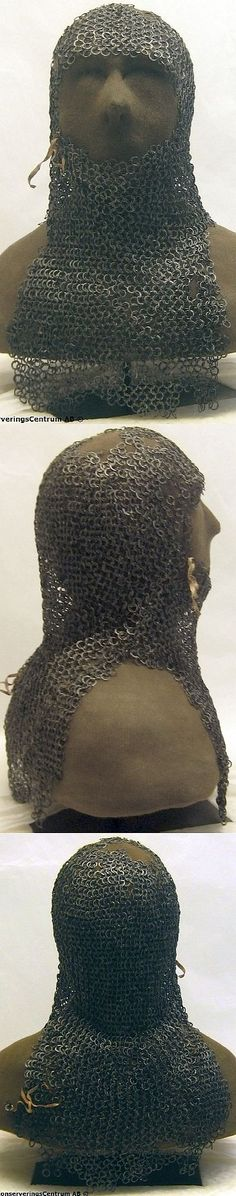 Image result for european riveted mail coif tofta church