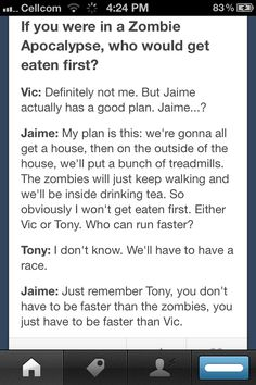 """You just have to be faster than Vic"" haha!! :)"