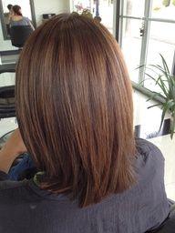 medium length hair hair-in-spiration Hair Color And Cut, Brown Hair Colors, Hair Colour, Pretty Hairstyles, Girl Hairstyles, Braid Hairstyles, Black Hairstyle, Easy Hairstyle, Style Hairstyle
