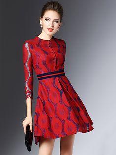 https://www.metisu.com/red-a-line-wave-printed-mini-dress-5513.html