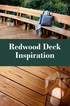Enjoy your outdoor living space by adding a redwood deck!