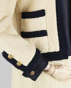 Chanel jacket detail, 1962 - still fabulous after fifty-four years....now that is style!
