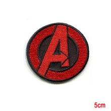 AVENGERS Small Red A EMBROIDERED IRON-ON PATCH marvel hulk captain america(China (Mainland))