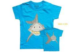 bio katoenen Mibo t-shirt 'haai' Coq en Pâte éditions | kinderen-shop Kleine Zebra