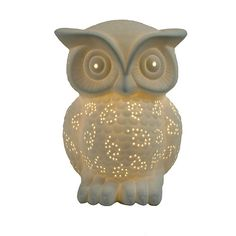"Found it at Wayfair - Simple Designs Owl 9.84"" H Table Lamp with Novelty Shade"