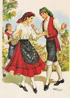 Traditional dress from the Ribatejo region, Portugal Portuguese Culture, Costumes Around The World, Folk Dance, Thinking Day, The Beautiful Country, Azores, Spain And Portugal, Folk Costume, My Heritage