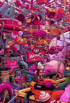 Supersize Them: Fast Food Illustrations by Mr. Cartoon Wallpaper, Graffiti Wallpaper Iphone, Crazy Wallpaper, Pop Art Wallpaper, Trippy Wallpaper, Screen Wallpaper, Wallpaper Quotes, Graffiti Art, Graffiti Doodles