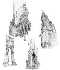 Concept art of hell growth from darksiders by paul richards. Landscape Concept, Fantasy Landscape, Fantasy Art, Art Journal Techniques, Prop Design, Environment Concept Art, Living At Home, Environmental Art, Art Model