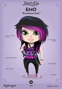 Emo female Character by Hydrogen