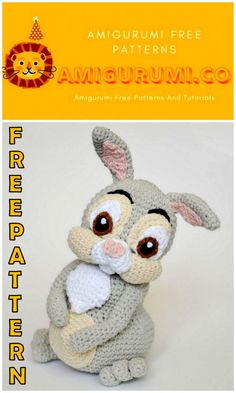 Welcome to our website where you can find the most beautiful and highest quality samples of Amigurumi patterns. All the amigurumi patterns you can't find are available on our website. Every day we continue to share new amigurumi patterns for you. Crochet Animal Patterns, Crochet Patterns Amigurumi, Stuffed Animal Patterns, Doll Patterns, Crochet Toys, Easter Crochet, Crochet Bunny, Crochet Rabbit Free Pattern, Amigurumi Animals