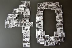 """Maybe do a """"70"""" for my g'parents anniversary. put it on black mat or poster board, and have everyone write a message in silver"""