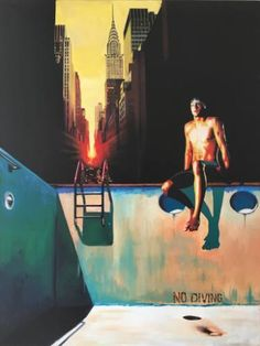 "Saatchi Art Artist GABY  JOSEPHINE; Painting, ""Impression de solitude"" #art"