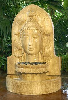 Our beautiful Buddha fountain.