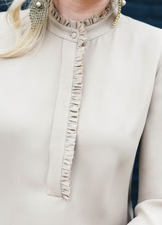 nude ruffle blouse                                                                                                                                                                                 More