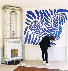 Art Genius DIY Wandkunst Ideen 46 Pilgrims also make an excellent addition to your Thanksgiving deco Mur Diy, Instalation Art, Blue Artwork, Diy Wand, Retro Home Decor, Diy Wall Art, Artist Painting, Painting Walls, Diy Painting