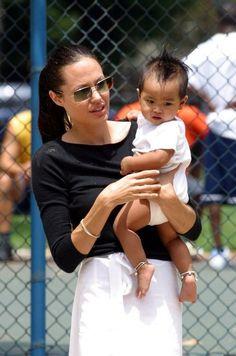 Angelina Jolie with Maddox