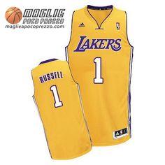 Canotte Nba Swingman Russel #1 Giallo Los Angeles Lakers